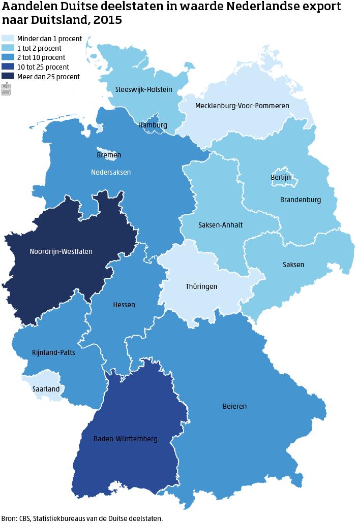 kaart Duitse deelstaten export